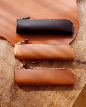 ナチューラ ヌメ革 ファスナーペンケース|土屋鞄製造所