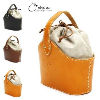 バレルハンドバッグ|cham (チャム)