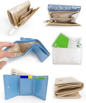 シャイニードット三つ折り財布|ナチュラルビューティー2